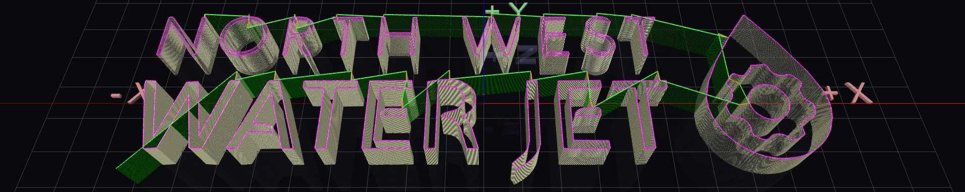 3D CAD image of waterjet profiling