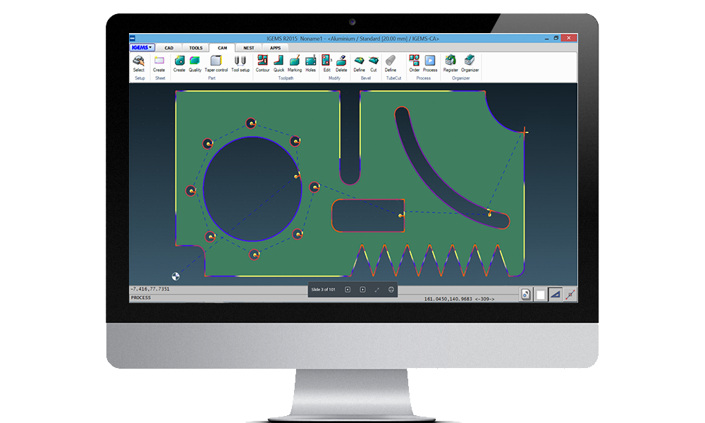 Waterjet cutting software