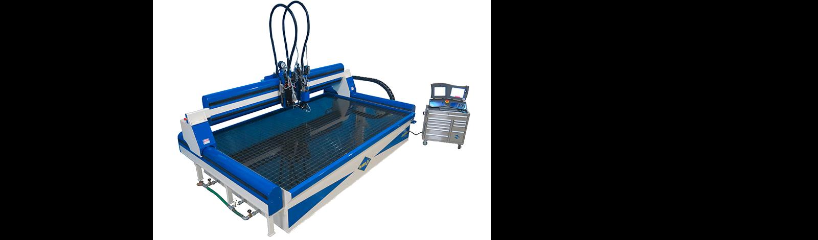 Wardjet waterjet cutting machine image